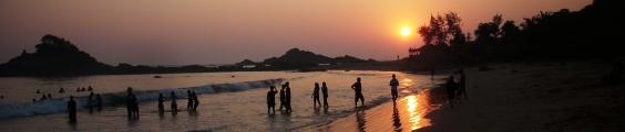 Sonnenuntergang in Gokarna, Südindien